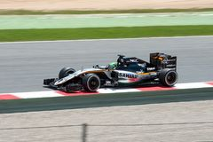 Nico Hulkenberg drives the Sahara Force India F1 Team car on track for the Spanish Formula One Grand Prix at Circuit de Catalunya Royalty Free Stock Photography