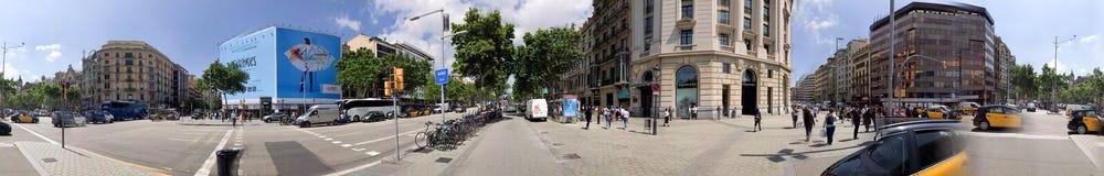 BARCELONA - MAY 11, 2018: Panoramic view of Passeig de Gracia. B Stock Image