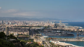 Barcelona and the Mediterranean Sea Royalty Free Stock Images