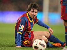 barcelona messi Royaltyfria Bilder