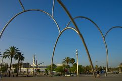 Barcelona metal sculpture Stock Images