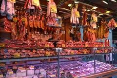 Barcelona mięsa kram Zdjęcie Royalty Free