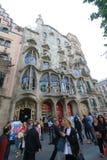 Barcelona miasta ulicy widok Obrazy Royalty Free