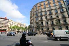 Barcelona miasta ulicy widok Obrazy Stock