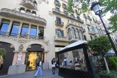 Barcelona miasta ulicy widok Zdjęcia Royalty Free