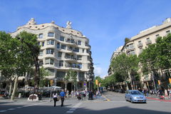 Barcelona miasta ulicy widok Obraz Stock