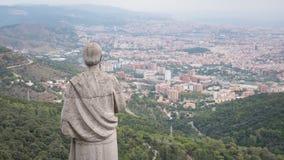 Barcelona miasta widok z lotu ptaka Miasto przegląd Breathtaking widok zdjęcia royalty free