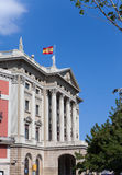 Barcelona. Military Government Building.Close up in a sunny day Royalty Free Stock Photos