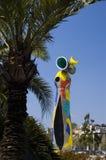 barcelona miroskulptur Arkivbild