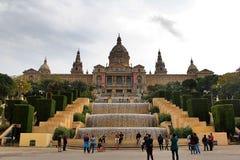 barcelona mnac Arkivbilder