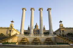 barcelona mnac obywatela pałac Fotografia Royalty Free