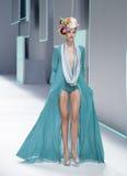 080 BARCELONA moda - CELIA VELA wybieg Obraz Stock