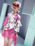 080 BARCELONA moda - CELIA VELA wybieg Fotografia Stock