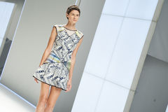 080 BARCELONA moda - CUSTO BARCELONA wybieg Fotografia Stock