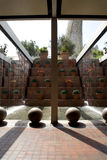 Barcelona - modern fountain Stock Photos