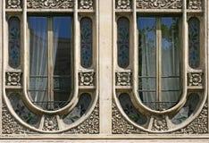 barcelona modernisty okno obraz stock