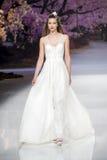BARCELONA mody BRIDAL tydzień - INMACULADA GARCIA wybieg fotografia stock