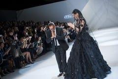 BARCELONA mody BRIDAL tydzień - NAEEM KHAN wybieg Zdjęcia Royalty Free