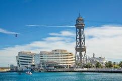 Barcelona Montjuic Cable Car Stock Photos