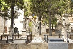 Barcelona Montjuic Cemetery Royalty Free Stock Photography