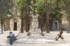 Barcelona Montjuic Cemetery Royalty Free Stock Photos