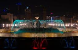 Barcelona Montjuic magic fountains Stock Photo