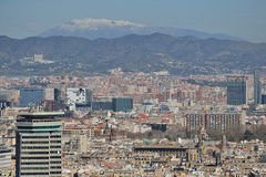 Barcelona from Montjuic. Sight of the city of Barcelona from Montjuic Royalty Free Stock Images