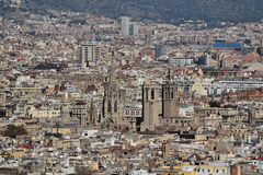 Barcelona from Montjuic. Sight of the city of Barcelona from Montjuic Stock Photography