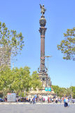 Barcelona. Monument to Christopher Columbus Royalty Free Stock Photos