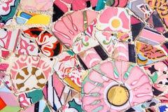 Barcelona mosaics Stock Photography