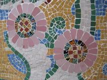 barcelona mosaik Royaltyfria Bilder