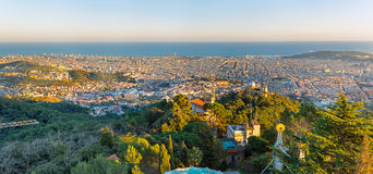 Barcelona from Mount Tibidabo Royalty Free Stock Photography
