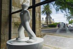 Barcelona, museu marítimo Miraestel da Espanha - figura exibição do sonhador Fotografia de Stock