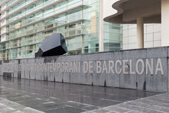 The Barcelona Museum of Contemporary Art. royalty free stock photography