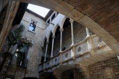 barcelona museum picasso Arkivfoton
