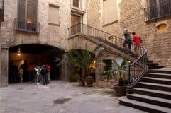 barcelona museum picasso arkivbild