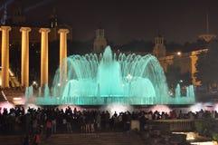 Barcelona musicalu fontanna obraz royalty free