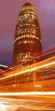 Barcelona na noite - Torre Agbar Foto de Stock