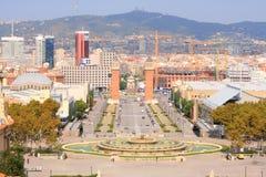 barcelona nacional palau Arkivbild