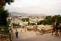 Barcelona from National Palace Stock Image