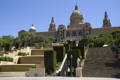 Barcelona. The national Palace. The national Palace of Montjuic. From the building of the Palace offers a wonderful panorama of the city. The Palace was built in Stock Photos