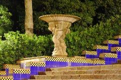 barcelona nattpark Arkivbild