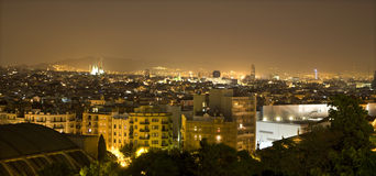 Barcelona in night Royalty Free Stock Images