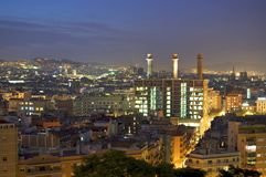 Barcelona at night Royalty Free Stock Photo