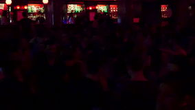 Barcelona Night Disco Party Crowded Sala Apolo stock video