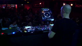 Barcelona Night Disco Party Dj Session Sala Apolo stock video footage