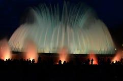 Barcelona at night Royalty Free Stock Image