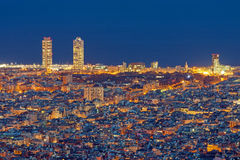 Barcelona at night Stock Photography