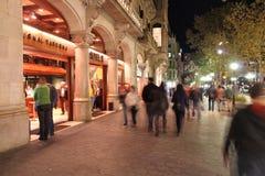 Barcelona night Royalty Free Stock Image