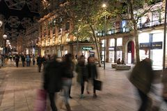 Barcelona night Royalty Free Stock Images